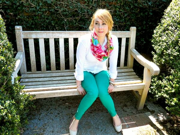 Simple Sunday:  Fresh Green (Denim) and Lilly Blooms
