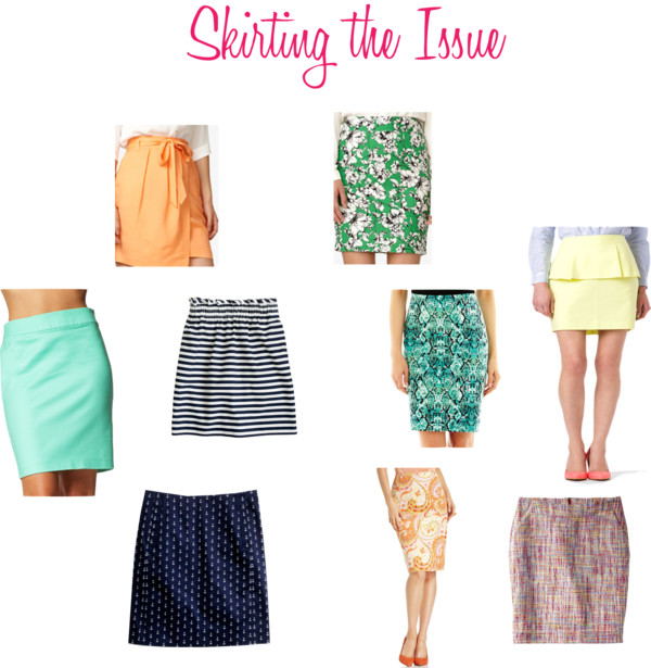 (No Longer) Skirting the Issue:  Bold Colors and Prints for Work
