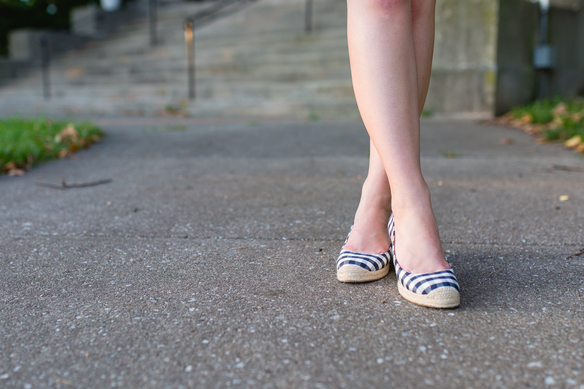 gingham espadrille wedges preppy