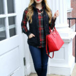 Holiday Casual:  Stewart Plaid & Navy Vest