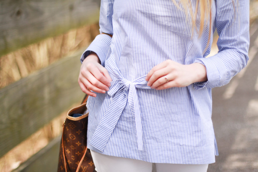 striped tunic bow j.crew spring