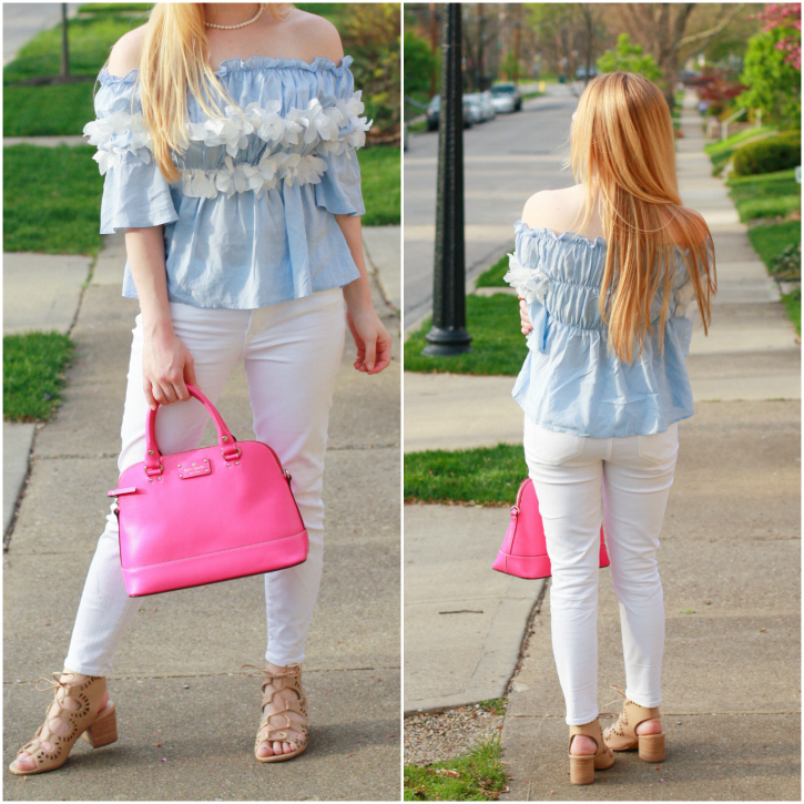 blue ots blouse