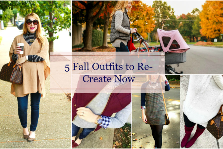 five fall outfits preppy