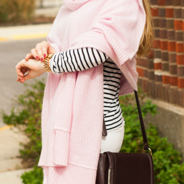How to Wear a Pink Cashmere Wrap