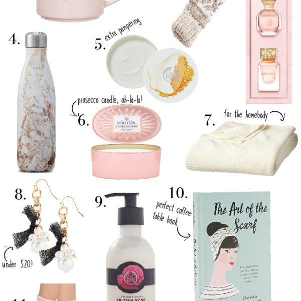 Holiday Gift Guide:  Gifts for Your Bestie Under $50