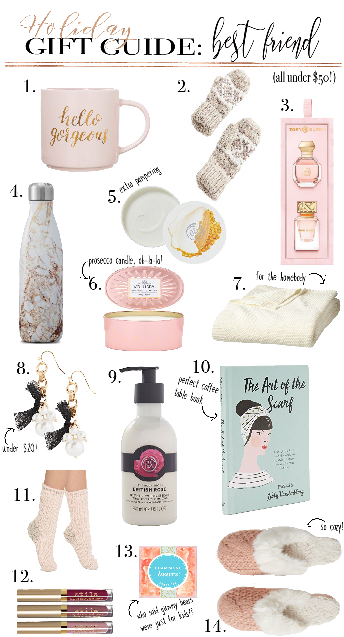 gift guide for bestie best friend holiday gift guide gifts under 50