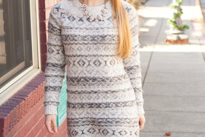 Fair Isle Sweater Dress & Green Tights + $1000 Nordstrom Giveaway ...