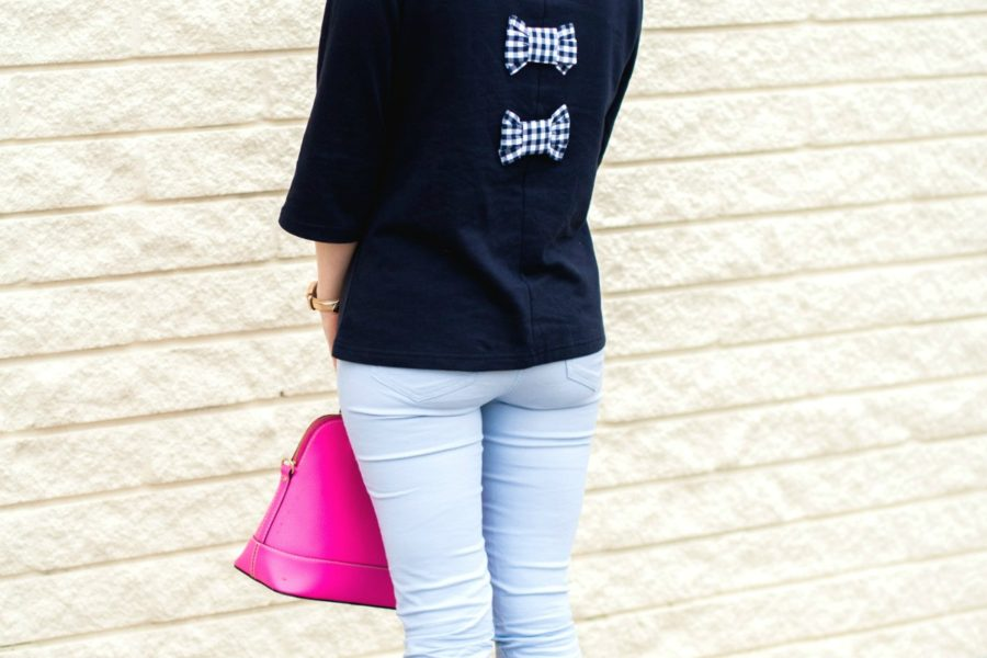 ruffled blouse featured